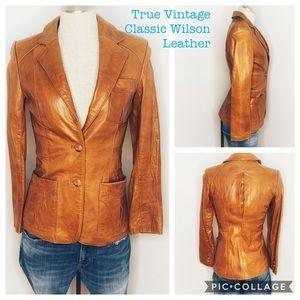 Wilson's 70's leather Vintage Cognac Camel Jacket
